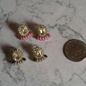 Faux diamond earring set